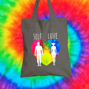 Self Love Tote Bag Tote bag Grow Through Clothing Grey
