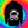 Spaced Out Hoodie - Back Print Only Hoodie Grow Through Clothing Black Back Extra Small Unisex