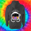 Spaced Out Hoodie - Back Print Only Hoodie Grow Through Clothing Grey Back Extra Small Unisex