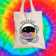 Spaced Out Tote Bag Tote bag Grow Through Clothing Beige