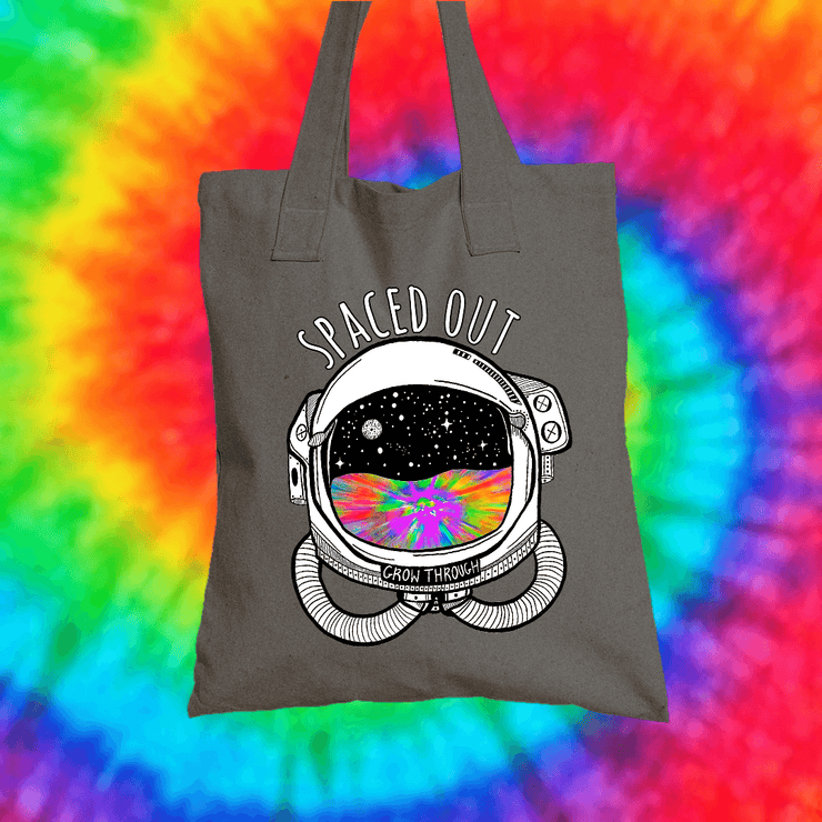 Spaced Out Tote Bag Tote bag Grow Through Clothing Grey