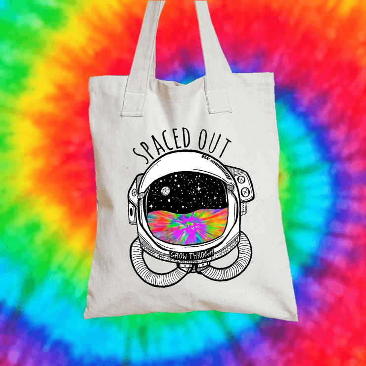 Spaced Out Tote Bag Tote bag Grow Through Clothing White