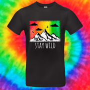 Stay Wild Tee T-shirt Grow Through Clothing Black Front Small Unisex
