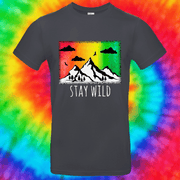 Stay Wild Tee T-shirt Grow Through Clothing Grey Front Small Unisex