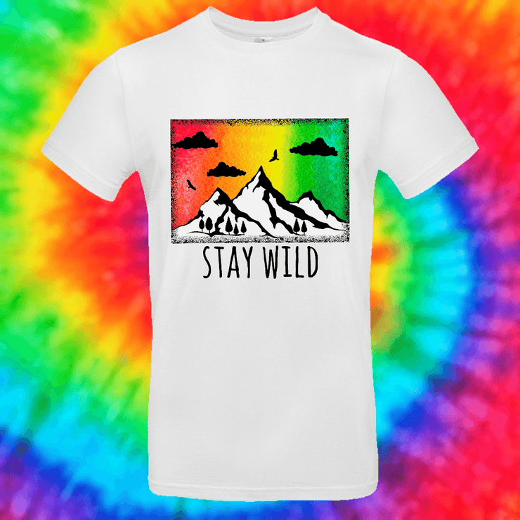 Stay Wild Tee T-shirt Grow Through Clothing White Front Small Unisex