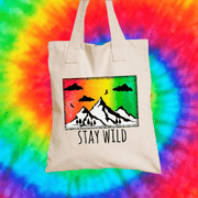 Stay Wild Tote Bag Tote bag Grow Through Clothing Beige