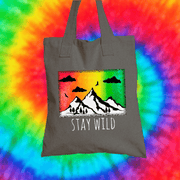 Stay Wild Tote Bag Tote bag Grow Through Clothing Grey
