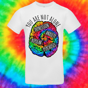 You Are Not Alone Tee T-shirt Grow Through Clothing White Front Small Unisex