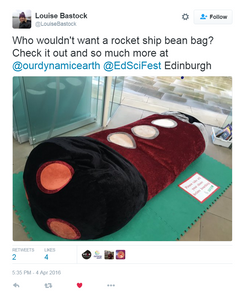 Space Rockets, Asteroids, Stars and the Moon - Dynamic Earth Beanbag set