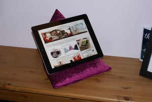 Techbed - a Kindle cushion, iPad pillow, tablet stand, book stand