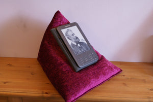 "Techbed Maxi - iPad Pro 12.9"" stand, kindle cushion, tablet pillow, arthritis book stand"