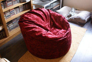 luxury red beanbag