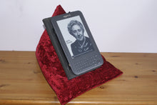 Merlot Red Techbed Kindle cushion netflix iPad pillow tablet stand arthritis parkinsons aid