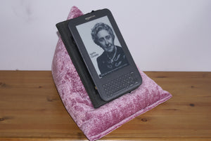 Pink Techbed netflix movies in bed iPad pillow kindle cushion tablet stand arthritis hands free parkinsons read stand