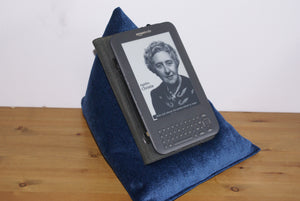 Navy Blue Techbed Kindle Cushion iPad Pillow tablet stand netflix arthritis ipad neck parkinsons read watch movies