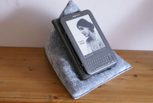 Sky Blue Techbed Kindle cushion iPad pillow tablet stand arthritis parkinsons