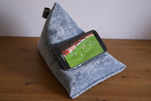 Techbed Mini - mobile phone beanbag stand for all mobile devices