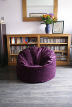 kids luxury purple beanbag