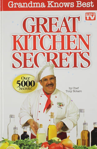 Livre ISBN 0988295563 Great Kitchen Secrets (Tony Notaro)