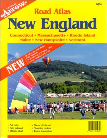Livre ISBN 1557515344 Road Atlas : New England: Connecticut, Massachusetts, Rhode Island, Maine, New Hampshire, and Vermont