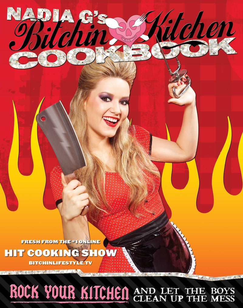 Livre ISBN 1599214415 Bitchin' Kitchen Cookbook: Rock Your Kitchen--And Let The Boys Clean Up The Mess (Nadia Giosia)