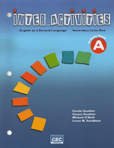 Livre ISBN 2761725395 Inter Activities : English as a Second Language (Secondary Cycle One)