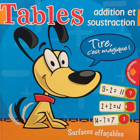 Livre ISBN 2896750126 Tables additions et soustractions (Surfaces effaçables)