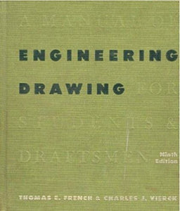 Livre ISBN  A Manual of Engineering Drawing for Students & Draftsmen: 9th Edition