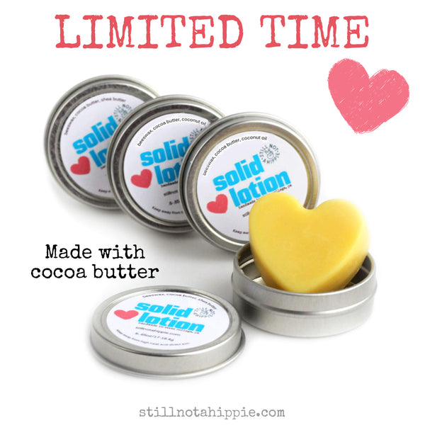 Cocoa Butter Solid Lotion Minis Are Here Just for Valentine's!