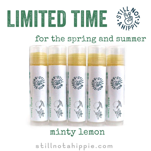 minty lemon is here for the spring & summer!