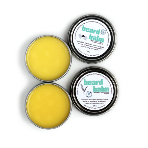 beard balm - 2oz | lavender-rosemary or tea tree-lemon-peppermint