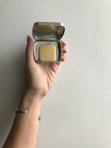 solid lotion - mini - SEASONAL FALL/WINTER SCENTS - orangcinnaclove or peppermint - all-natural