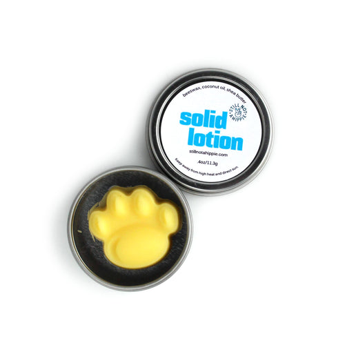 solid loton - mini - naked - paw print