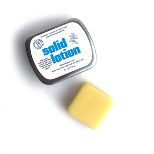 solid lotion - mini - SEASONAL FALL/WINTER SCENTS - orangcinnaclove or peppermint - all-natural - Made in PA