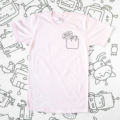 Can we go faster? Robot T-shirt - PINK