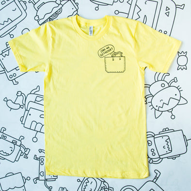 Can we go faster? Robot T-shirt - YELLOW
