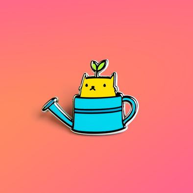 Cat in a Can Enamel Pin