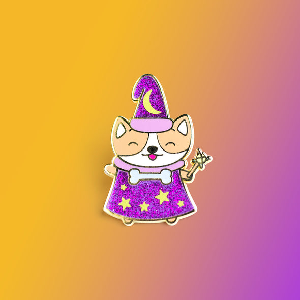 Magical Corgi Enamel Pin – Final Run