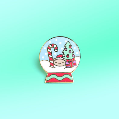 Snowglobe Cat Enamel Pin