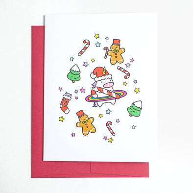 Holiday Unicorn Greeting Card
