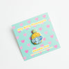 Itty Bitty Pineapple Enamel Pin BLUE Glitter Edition!