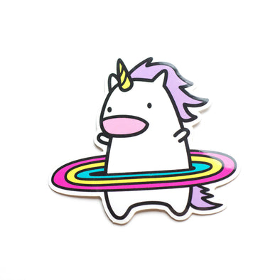 Hula Unicorn Sticker