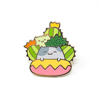 Cactus Cat - Ohayo-Neko Series 1 - Enamel Pin