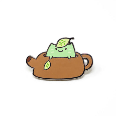 Matcha Cat Enamel Pin