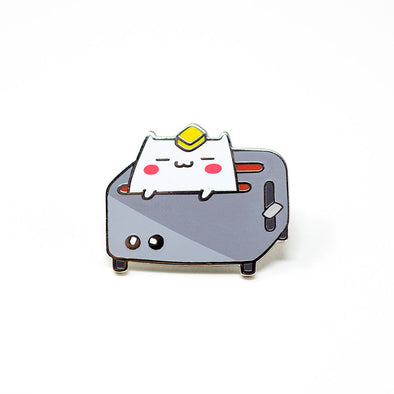 Toaster Cat - Ohayo-Neko Series 1 - Enamel Pin