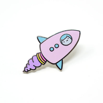 Commander Kitty - Rocket Ship Enamel Pin