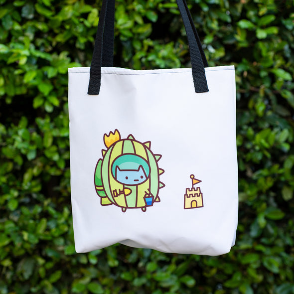 Fancy Commander Kitty Beach Outfit Tote Bag