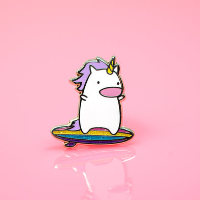 Work it, Surfing Unicorn Hard Enamel Pin