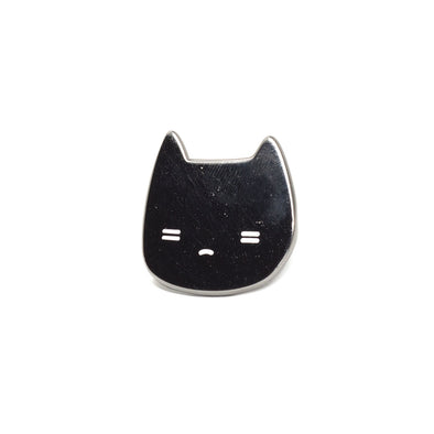 Sleepy Black Cat Enamel Pin