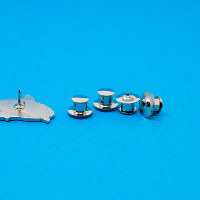 Locking Pin Backs Pack of 4